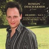 Brahms: Sonata No. 3 in F Minor, Sechs Klavierstücke Vol. 1 by Romain Descharmes