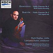 Dohnanyi - Violin Cto No. 2 / Bartok - Violin Cto No. 2 by Various Artists