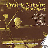 Frédéric Meinders Plays Songs By Schubert, Shumann, Brahms, Mahler by Frédéric Meinders