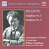 Symphonies Nos. 2 and 4 by Johannes Brahms