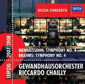 Mendelssohn: Symphony No.4 / Brahms: Symphony No.4 by Gewandhausorchester Leipzig