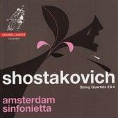 Shostakovich: String Quartets 2 & 4 by Amsterdam Sinfonietta