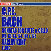 Carl Philip Bach: Sonatas for Flute Violoncello Wq. 83, 87, 124, 126 & 128 by Vaclav Kunt
