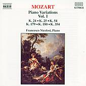 Piano Variations Vol. 1 by Wolfgang Amadeus Mozart