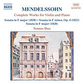 Complete Works for Violin and Piano by Felix Mendelssohn