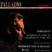 Sibelius: Symphonies Nos. 2 & 7 by Philharmonia Orchestra