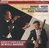 Hummel / Weber: Bassoon Concertos by Klaus Thunemann