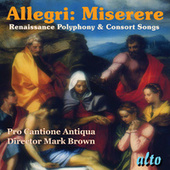 Allegri: Miserere/Renaissance Polyphony & Consort Songs by Various Artists