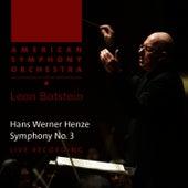 Henze: Symphony No. 3 by American Symphony Orchestra