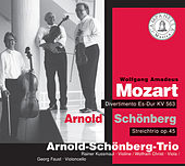Mozart: Divertimento, K. 563 - Schoenberg: String Trio, Op. 45 by Schoenberg Trio