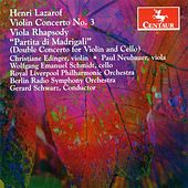 Lazarof, H.: Violin Concerto / Viola Rhapsody / Partita Di Madrigali by Various Artists