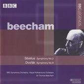 Beecham - Sibelius: Symphony No. 2 - Dvorak: Symphony No. 8 by Thomas Beecham