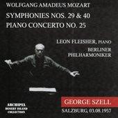Wolfgang Amadeus Mozart : Simphonies Nos. 29 and 40, Piano Concerto No. 25 (Salzburg 03.08.1957) by Berliner Philharmoniker