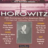 25th Anniversary of his American Debut (Carnegie Hall, Feb.1953) by Vladimir Horowitz