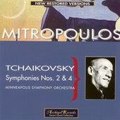 Tchaikovsky: Symphonies Nos. 2 & 4 by Dimitri Mitropoulos
