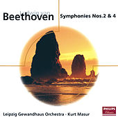 Beethoven: Symphonies Nos.2 & 4 by Gewandhausorchester Leipzig