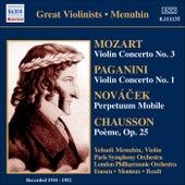 Mozart: Violin Concerto No. 3 / Paganini: Violin Concerto No. 1 (Menuhin) (1934-1952) by Yehudi Menuhin
