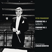 Tchaikovsky: Symphony No. 4 in F minor, op. 36 (Movts. II-IV); Symphony No. 5 in E minor, op. 64 by Leonard Bernstein