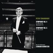 Tchaikovsky: Symphony No. 4 in F minor, op. 36 (Movts. II-IV); Symphony No. 5 in E minor, op. 64 by Leonard Bernstein