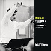 Sibelius: Symphony No. 4 in A minor, op. 63; Symphony No. 5 in E-flat major, op. 82 by Leonard Bernstein
