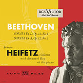 Beethoven: Sonata in D, Op. 12, No. 1; Sonata in A, Op. 12, No. 2 by Jascha Heifetz