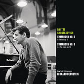 Shostakovich: Symphony No. 5 in D minor, op. 47; Symphony No. 9 in E-flat major, op. 70 by Leonard Bernstein