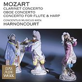 Mozart : Clarinet Concerto, Oboe Concerto & Concerto for Flute and Harp by Nikolaus Harnoncourt and Concentus musicus Wien