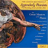The Genesis Recording Of Legendary Pianists by Various Artists