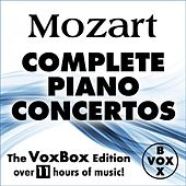 MOZART: Complete Solo Piano Concertos (The VoxBox Edition) by Various Artists
