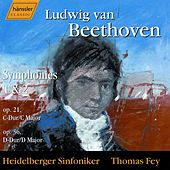 Symphonies 1 and 2 by Ludwig van Beethoven