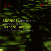 Symphony No. 3 and Serenade No. 2 by Johannes Brahms