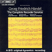 Complete Recorder Sonatas by George Frideric Handel