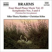 Brahms: Four-hand Piano Music, Vol. 15 by Johannes Brahms