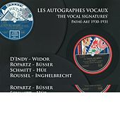 Les Autographes Vocaux by Various Artists