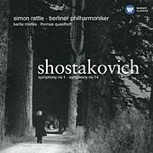 Shostakovich: Symphonies Nos. 1 & 14 by Sir Simon Rattle