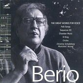Berio:  Vocal Works, Volume 1 - Folk Songs; Sequenza Iii; Chamber Music; O King; Circles And Other Works by Luciano Berio