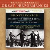 Shostakovich: Symphony No. 1; Cello Concerto [Great Performances] de Mstislav Rostropovich