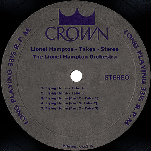 Flying Home: Stereo Takes by Lionel Hampton