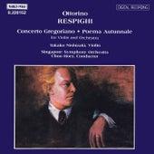RESPIGHI: Concerto Gregoriano / Poema Autunnale di Takako Nishizaki