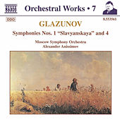 Symphonies Nos. 1 and 4 de Alexander Glazunov