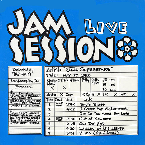 Jam Session Live 1952 by Various Artists
