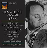 Jean-Pierre Rampal Plays Schubert, Schumann & Debussy (Studio Recordings 1951, 1955 & 1958) by Jean-Pierre Rampal