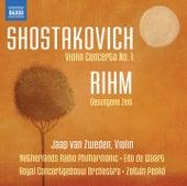 Shostakovich: Violin Concerto No. 1 - Rihm: Gesungene Zeit by Jaap van Zweden