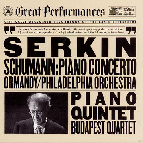 Schumann: Piano Concerto and Piano and String Quintet by Various Artists
