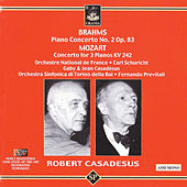 Brahms: Piano Concerto No. 2 - Mozart: Concerto for Three Pianos de Robert Casadesus