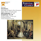 Mozart: Overtures; Divertimento, K. 131; Symphony No.28, K. 200 by Thomas Schippers, Antonia Brico, George Szell, Bruno Walter, Philippe Entremont