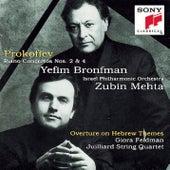 Prokofiev: Piano Concertos Nos. 2, 4 & Overture on Hebrew Themes di Israeli Philharmonic Orchestra