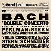 Bach: Concerto for 2 Violins in D Minor, BWV 1043 & Violin Concertos Nos. 1 & 2 (Live) by Isaac Stern, Itzhak Perlman, New York Philharmonic, Zubin Mehta, Members of the London Symphony Orchestra, Alexander Schneider