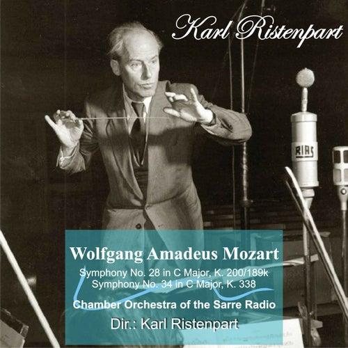 W. A. Mozart: Symphony No. 28 in C Major, K. 200/189k - Symphony No. 34 in C Major, K. 338 by Karl Ristenpart