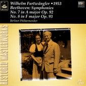 Beethoven: Symphonies Nos. 7 & 8 by Wilhelm Furtwängler